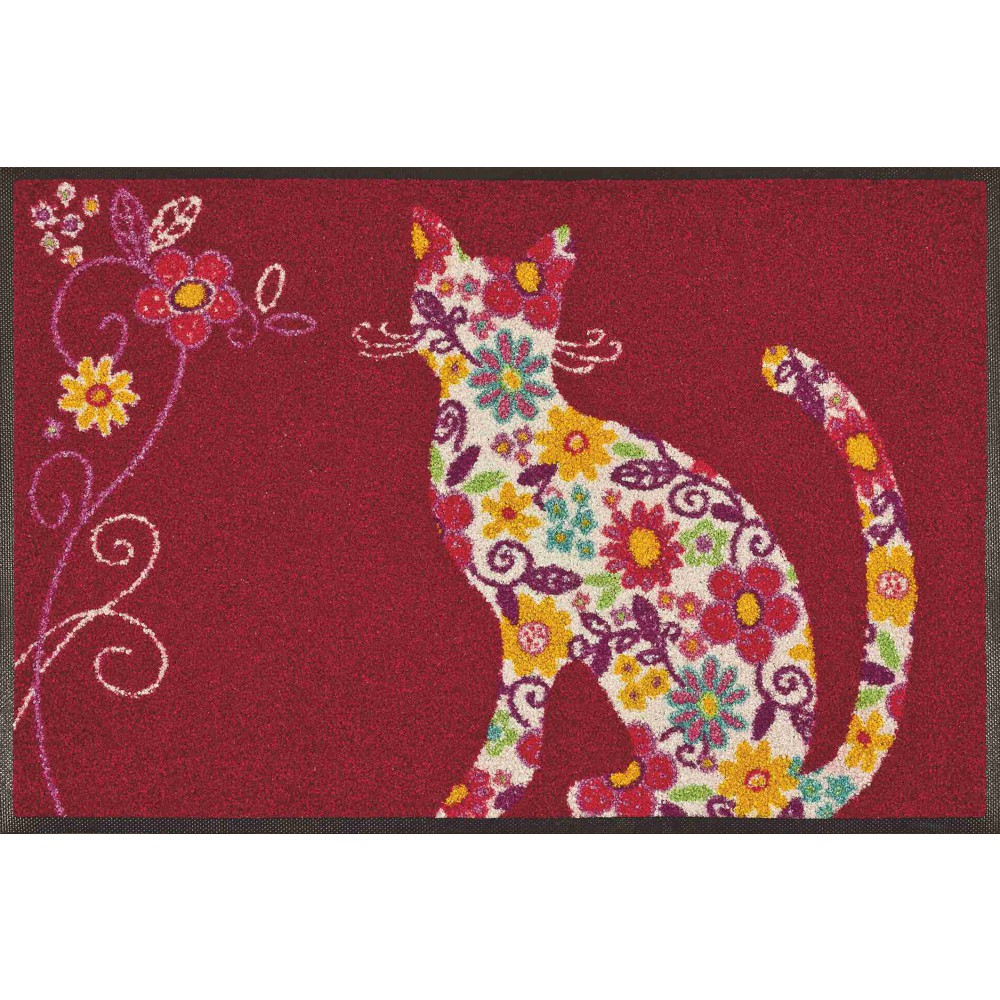 wash dry fu matte flower cat kaufen mattenkiste. Black Bedroom Furniture Sets. Home Design Ideas