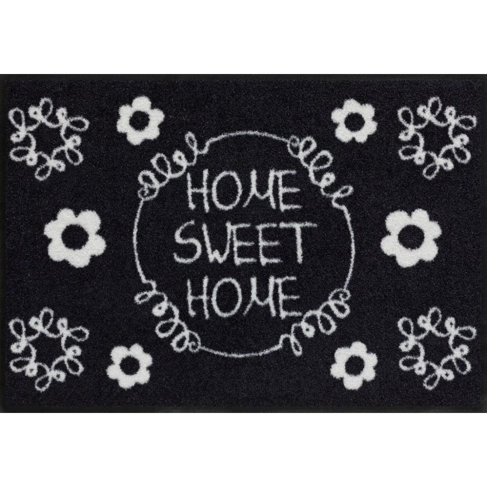 fu matte sweet home black white von salonl we kaufen. Black Bedroom Furniture Sets. Home Design Ideas