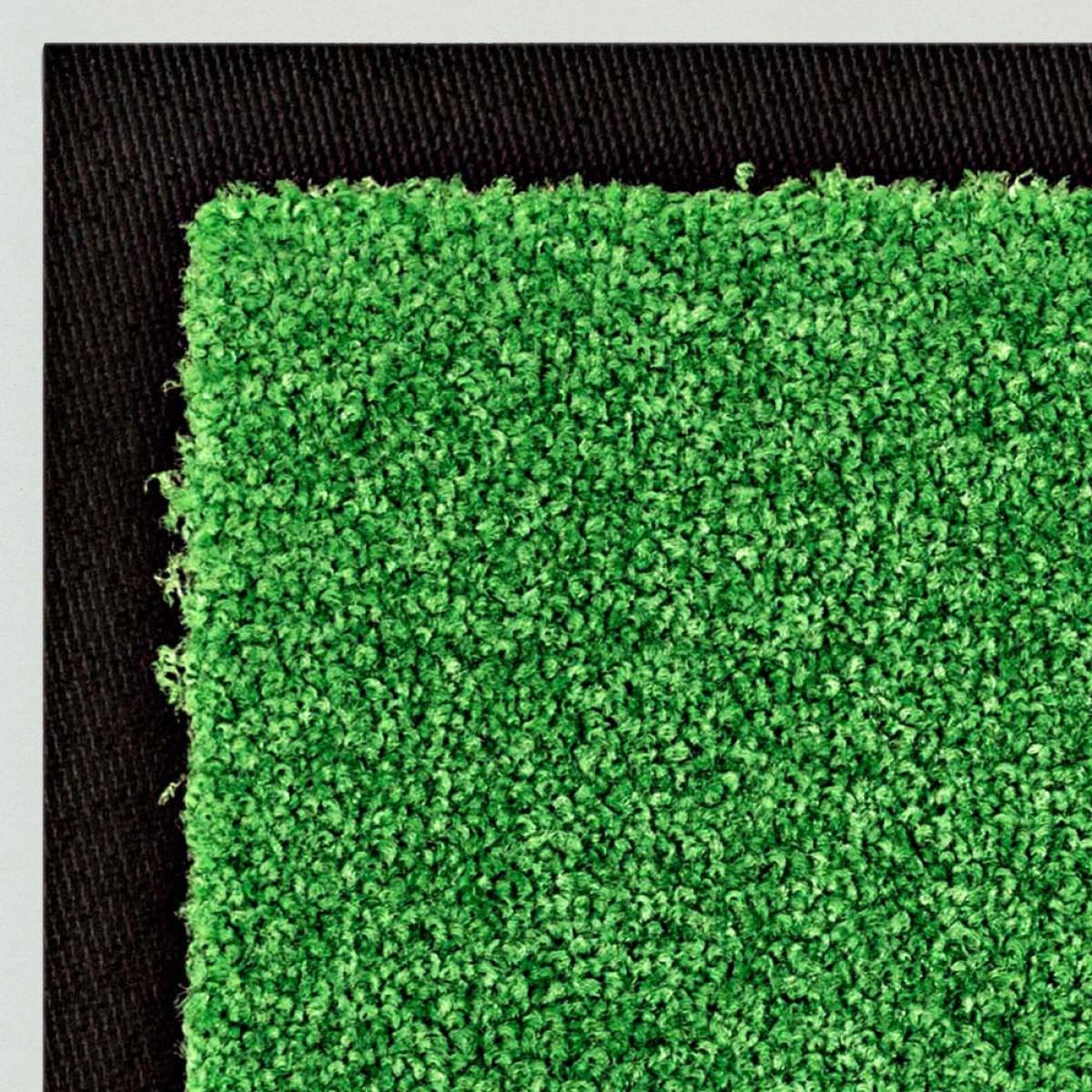 fu matte uni gr n kaufen waschbare schmutzfangmatte gr n mattenkiste. Black Bedroom Furniture Sets. Home Design Ideas