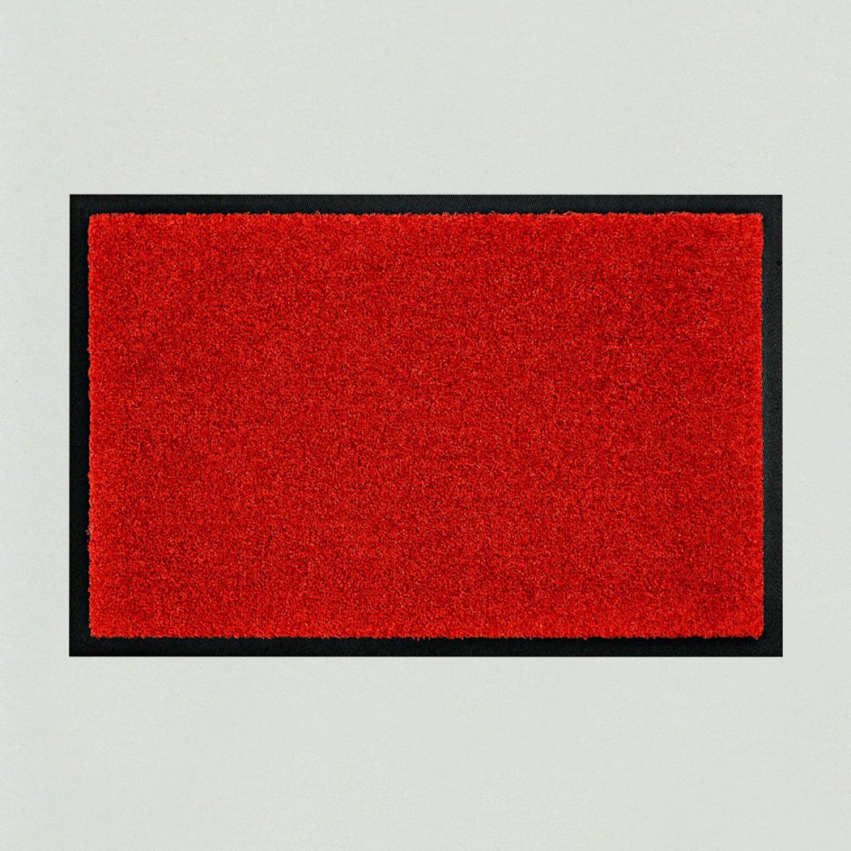 Fussmatten Aussenbereich fußmatte uni rot kaufen verschiedene farben mattenkiste