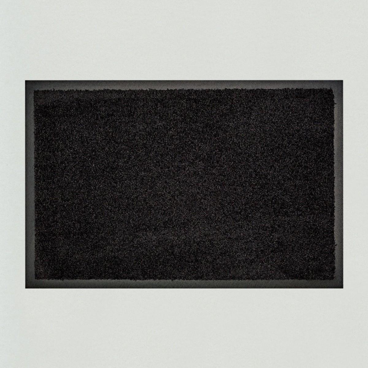 fu matte uni schwarz einfarbig waschbar kaufen verschiedene gr en mattenkiste. Black Bedroom Furniture Sets. Home Design Ideas