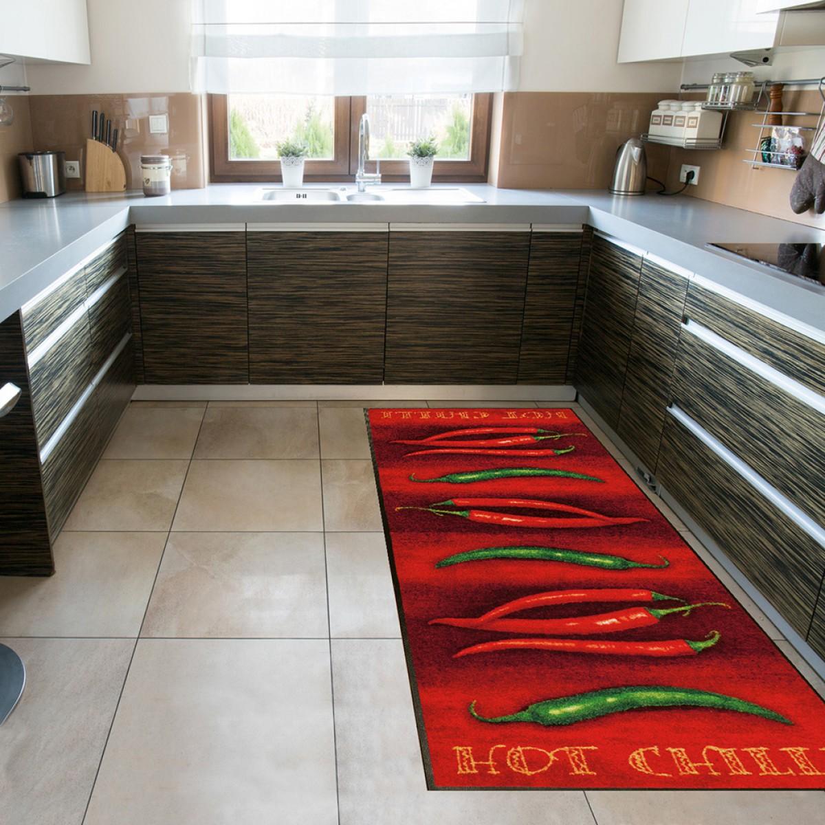 wash+dry Küchenläufer hot chili kaufen - Mattenkiste