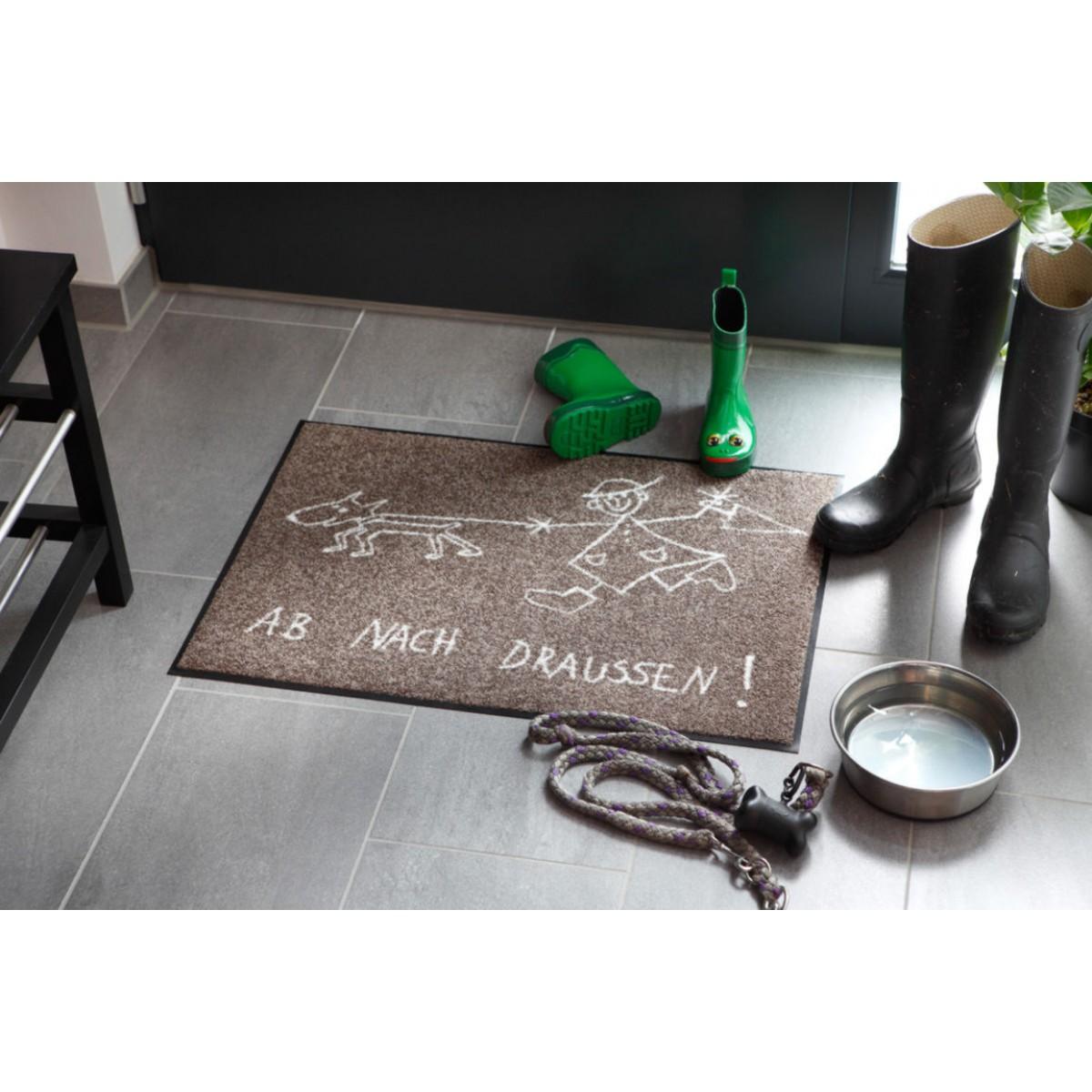 Fußmatten Für Draußen fußmatte ab nach draussen salonlöwe kaufen mattenkiste