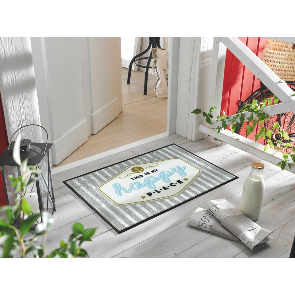 wash dry fu matte happy place kaufen mattenkiste. Black Bedroom Furniture Sets. Home Design Ideas