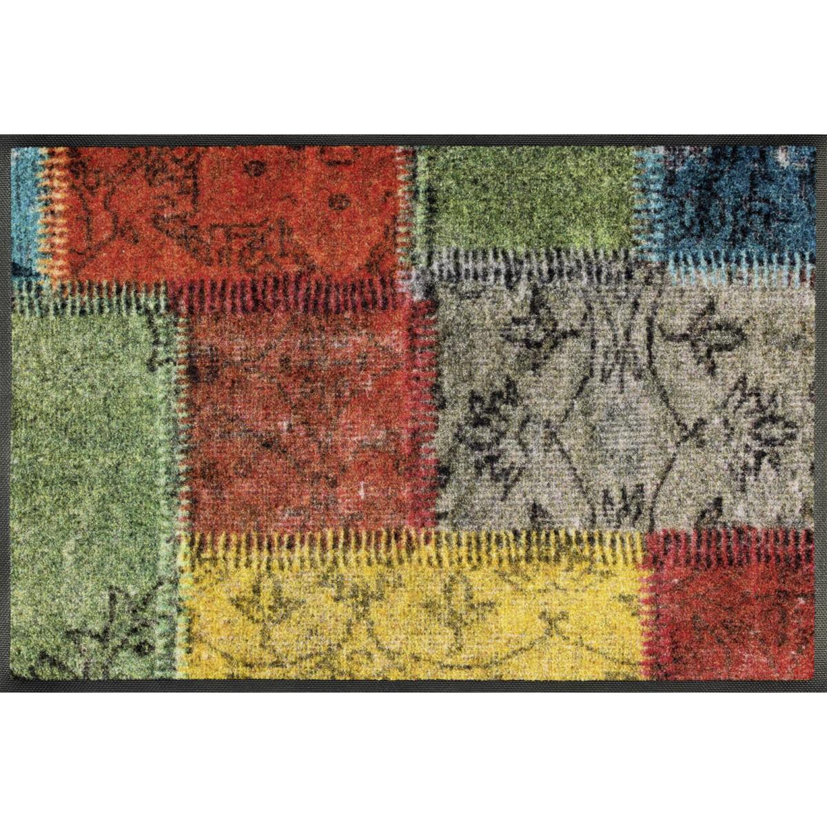 Schmutzfangmatte Wash wash fußmatte vintage patches kaufen mattenkiste