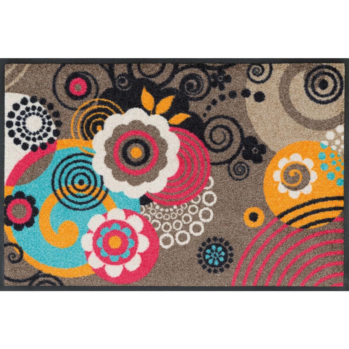 wash dry fu matte loops and flowers taupe kaufen verschiedene gr en mattenkiste. Black Bedroom Furniture Sets. Home Design Ideas