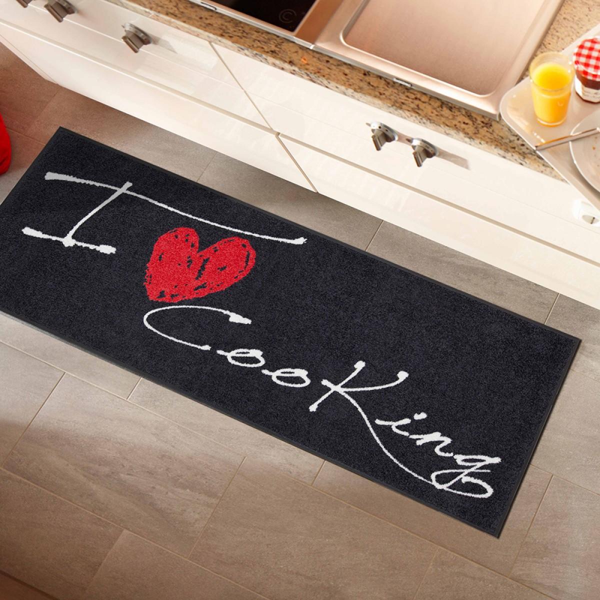 küchenläufer i love cooking heart von salonlöwe kaufen