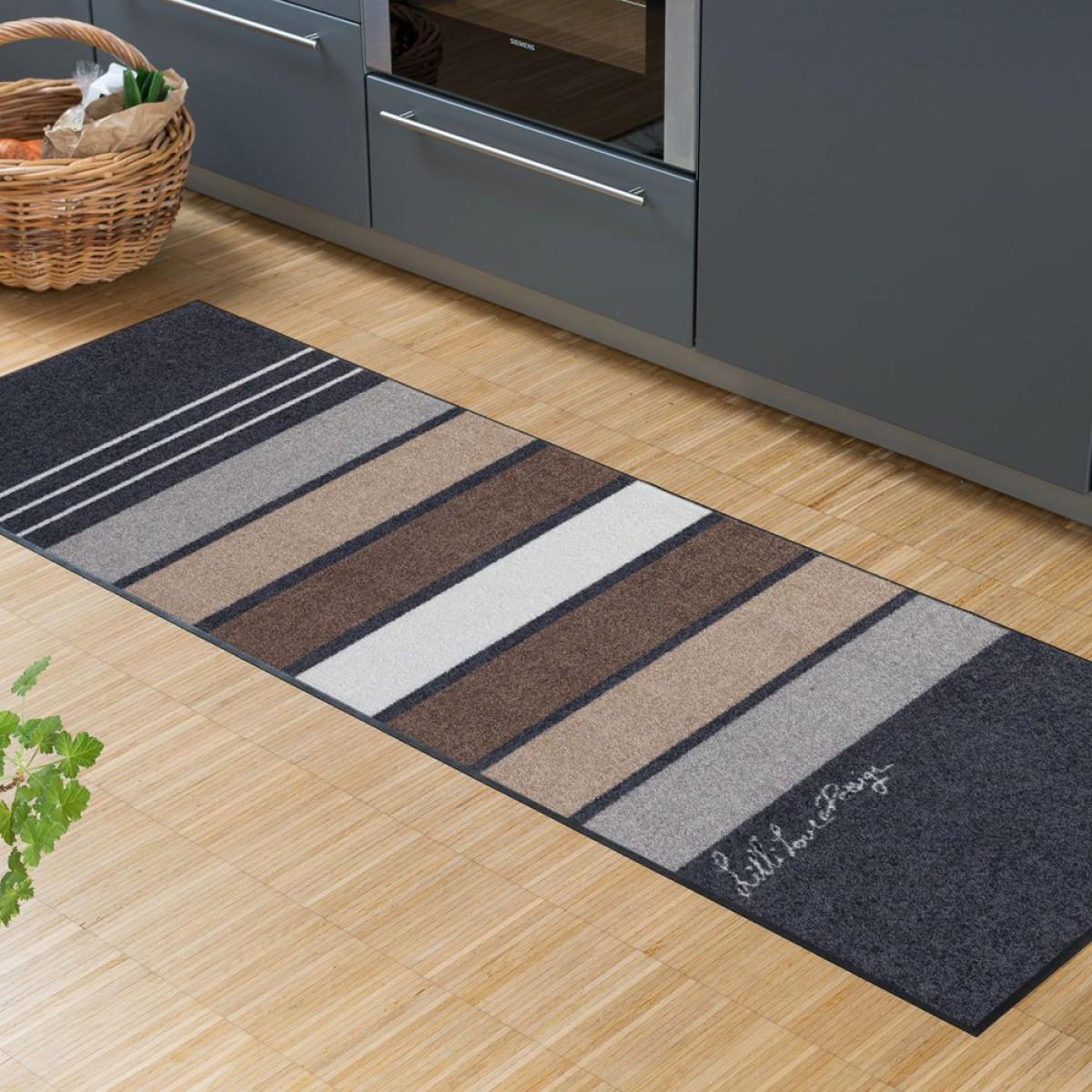 küchenläufer block stripes grey von salonlöwe kaufen