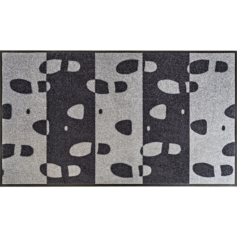 Fußmatte Footprint grau