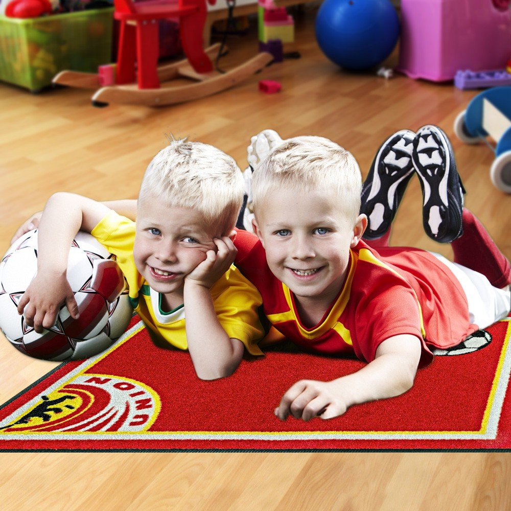 Fußmatte Kinder Fußball Berlin rot