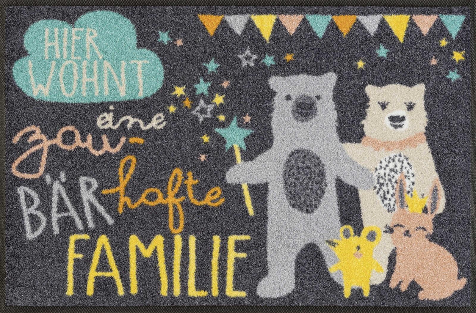 Fußmatte wash+dry Zaubärhafte Familie waschbar Detailansicht