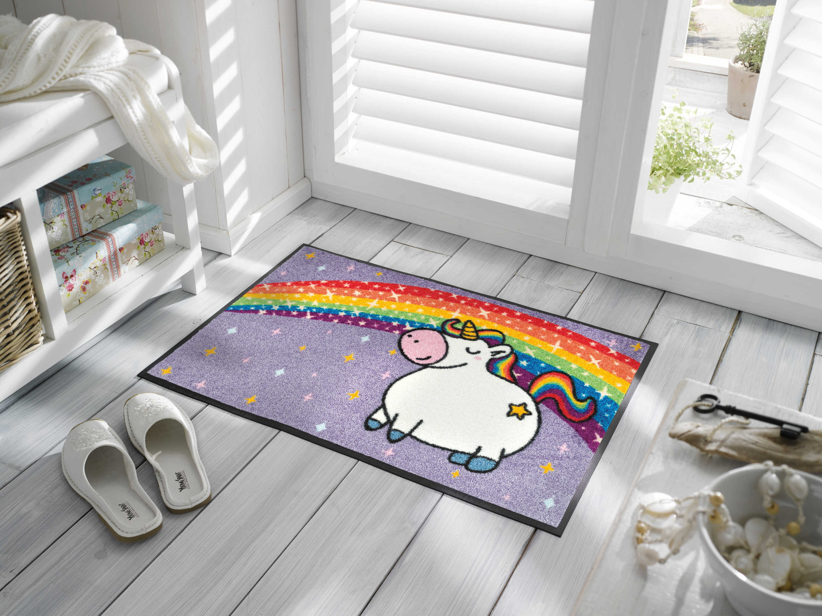 Wash dry teppich kinderzimmer unicorn rainbow kaufen mattenkiste - Teppich wash and dry ...