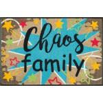 wash+dry Fußmatte Chaos Family waschbar Detailansicht