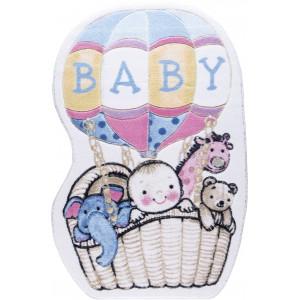 Kinderteppich Babyteppich Confetti Spielteppich waschbar air balloon