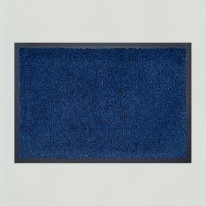 Fußmatte marineblau meliert waschbar Gesamtansicht