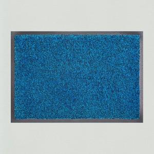 Fußmatte Azurblau meliert waschbar Gesamtansicht
