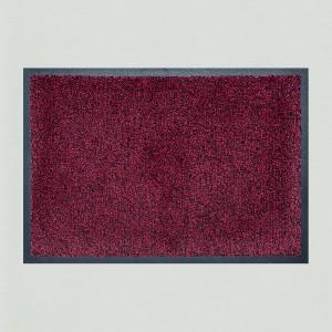 Fußmatte weinrot meliert waschbar Gesamtansicht