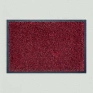 Fußmatte rot meliert waschbar Gesamtansicht