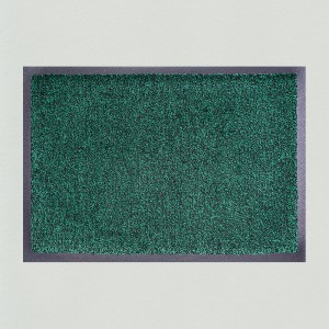 Fußmatte Dunkelgrün meliert waschbar Gesamtansicht