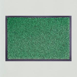 Fußmatte Grün meliert waschbar Gesamtansicht