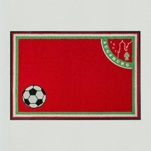 Fußmatte innen außen Fußball Augsburg rot grün weiß