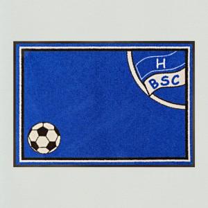 Fußmatte Fußball Berlin blau waschbar