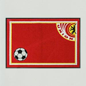 Fußball Berlin rot 85x115cm mit Trittrand (Restposten)