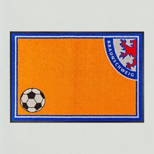 Fußball Braunschweig 85x115cm mit Trittrand Sonderposten