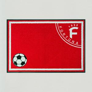 Fußmatte Fußball Düsseldorf 85x115cm mit Trittrand Sonderposten