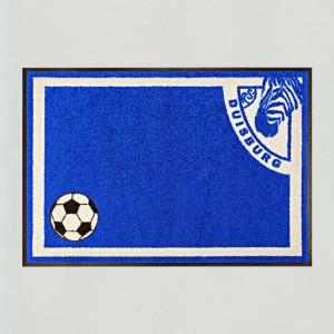 Fußmatte Fußball Duisburg waschbar
