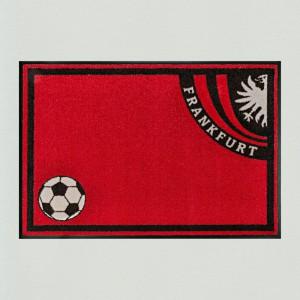 Fußmatte Fußball Frankfurt waschbar