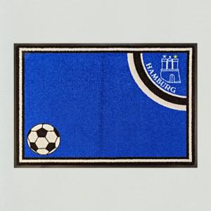 Fußball Hamburg 85x115cm mit Trittrand Sonderposten