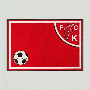 Fußmatte Fußball Köln 85x115cm mit Trittrand Sonderposten