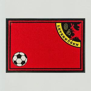Fußball Leverkusen 85x115cm mit Trittrand Sonderposten