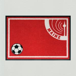 Fußmatte Fußball Mainz 60x85cm mit Trittrand (Restposten)