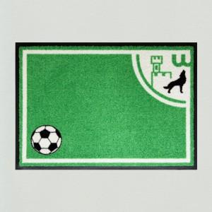 Fußmatte Fußball Wolfsburg 60x85cm mit Trittrand (Restposten)