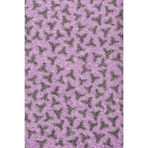 Schmutzfangmatte Fußmatte flieder waschbar Leopard