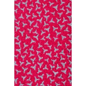 Schmutzfangmatte Fußmatte Fuchsia waschbar