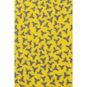 Schmutzfangmatte Fußmatte gelb waschbar
