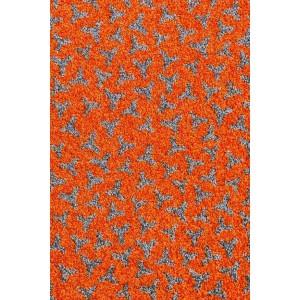 Schmutzfangmatte Fußmatte orange waschbar