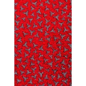 Schmutzmatte Fußmatte rot waschbar