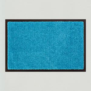 Fußmatte einfarbig aqua waschbar Gesamtansicht