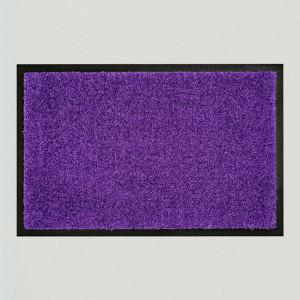 Fußmatte einfarbig aubergine waschbar Gesamtansicht