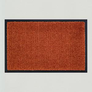 Fußmatte einfarbig braun waschbar Gesamtansicht