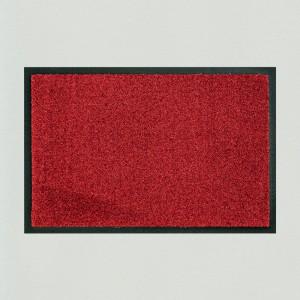 Fußmatte uni chilie waschbar für innen und außen Gesamtansicht