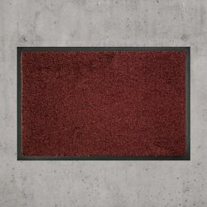 Fußmatte uni dunkelbraun waschbar Gesamtansicht