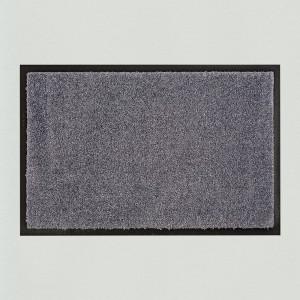 Fußmatte dunkelgrau einfarbig waschbar für innen und außen