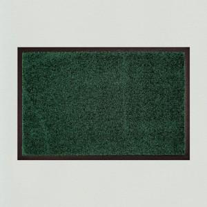 Fußmatte uni dunkelgrün waschbar Gesamtansicht