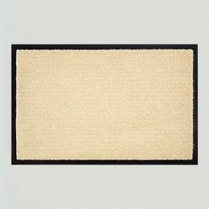 Fußmatte einfarbig elfenbein waschbar Gesamtansicht