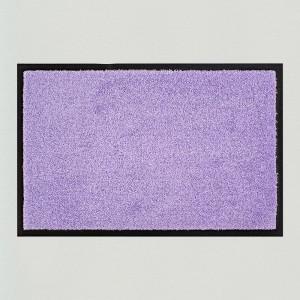 Fußmatte einfarbig flieder waschbar Gesamtansicht